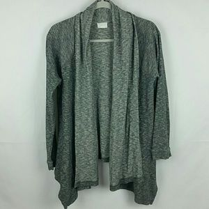 Caslon grey marbled open front cardigan